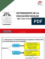 Determinates de La Educación Escolar