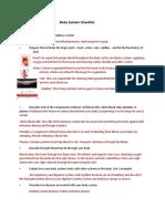 body system checklist  1