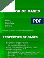Unit 8- Behavior of Gases