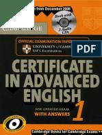 Cambridge Certificate in Advanced English