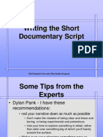 Writing the Short Documentary Script