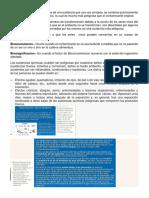 Bioacumulacion y Biomagnificacion
