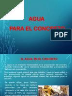 Clase 03 Agua Para Concreto