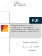 Spanish Gas Retail Market Q2.2017