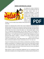 Origenes e Historia de La Salsa