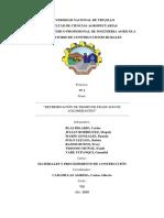 Informe 01 Determinación de Tiempo de Fraguado de Aglomerantes