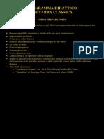 Programma Didattico Chitarra Classica Preaccademico Conservatorio