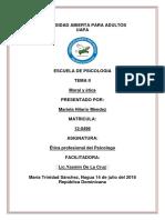 Tarea II Etica profesional del Psicologo.docx
