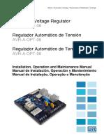 WEG Automatic Voltagr Regulator Avr a Opt 06 Mwml00187 Manual English