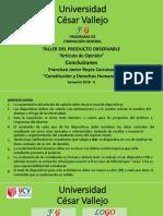 VERDES-Orientación Para Elaborar Las Conclusiones y La Sustentación Del Artículo de Opinión