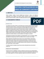 Estructura e Inslatacion de las Maquinas de Corriente Continua