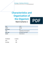 2.1 Organisation of the Organisms Igcse Cie Biology Ext Theory Ms