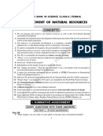 Global View on Management of Natural Resources