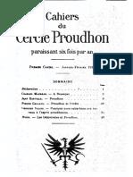 Cahiers Du Cercle Proudhon - Cahier 1