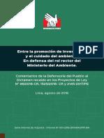 Perú: comentarios de la Defensoría sobre Ley de Hidrocarburos