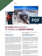La crisis internacional y su impacto en nuestra minería