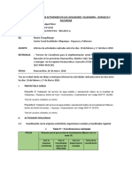 Informe de Avances en Localidades