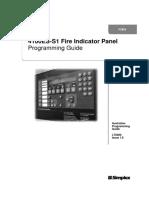 Simplex 4100ES-S1 Fire Indicator PaneL