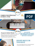 Débouchage de drain & tuyau au meilleur prix - Québec Plombier