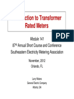 Intro to Transformer Rated Meters