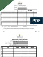 Training Plan Forms April 2008
