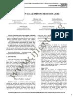 ANALYTICS ON SUGARCRM USING MICROSOFT AZURE