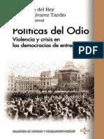 Del Rey, Fernando & Tardío, Manuel Álvarez  Políticas del odio.epub