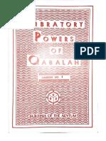 Vibratory Powers of Qabalah