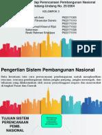 Tinjauan Terhadap Sistem Perencanaan Pembangunan Nasional