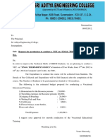 1. Request Letter From HOD to Principal