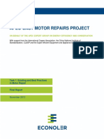 APECCAST Motor Repairs  Existing and Best Practices in Motor Repair Task 1.pdf