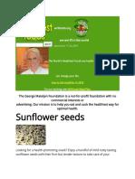Benefits of Sun Flower Seeds