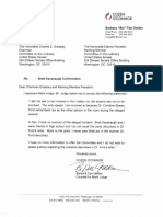 Mark Judge Letter To Judiciary Committee
