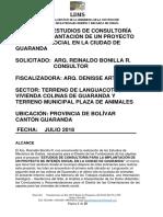 Informe Tecnico Estudio Para Las Viviendas Guaranda