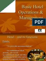 Basic Hotel Operations & Management