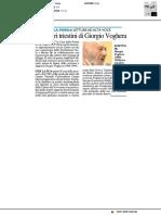 Letture ad alta voce con Giorgio Voghera - Il Resto del Carlino del 18 settembre 2018