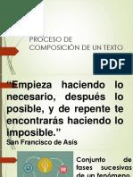 Proceso de Composición de Un Texto