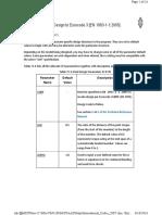 Steel Design Parameters Eurocode