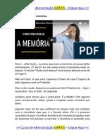 Como Melhorar a Memória? { TÉCNICA SIMPLES }