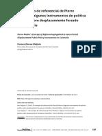 Carmen Holguín - El Concepto del Referencial de PIerre Muller en algunos instrumentos de política pública sobre el desplazamiento forzado en Colombia