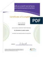 positive partnerships autism cert