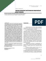 [ARS Medica Tomitana] Toxoplasmosis in Immunocompetent and Immunocompromised Population of Constana Romania