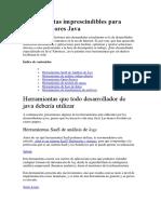 Herramientas Imprescindibles Para Desarrolladores Java