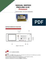 Manual Rapido Medidor de Campo Promax Prolink-3