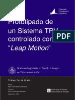 """Prototipado de sistema TPV controlado con """"Leap Motion"""""""