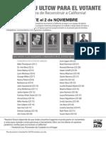 SEIU ULTCW 2010 Voter Guide (Spanish)