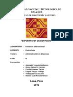 Exportación de Servicios en El Perú
