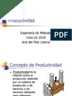 Programa de Productividad 02-2018