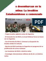 Marines desembarcan en la Argentina