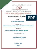 Estados Financieros de Instituciones Financieras Actividad n 14. Informe de Trabajo Col